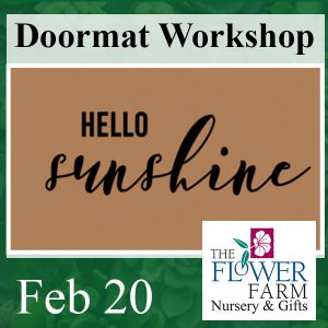 Doormat Workshop at Flower Farm